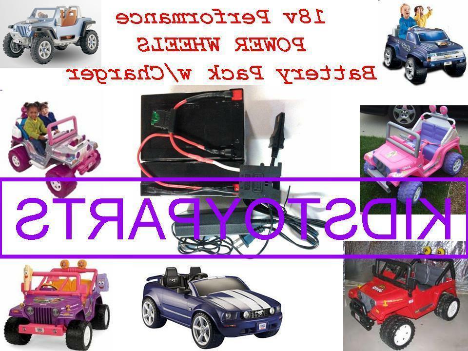 18 volt battery charger for12v power wheels