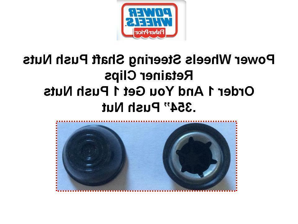 1x black 354 retainer nut steering wheel