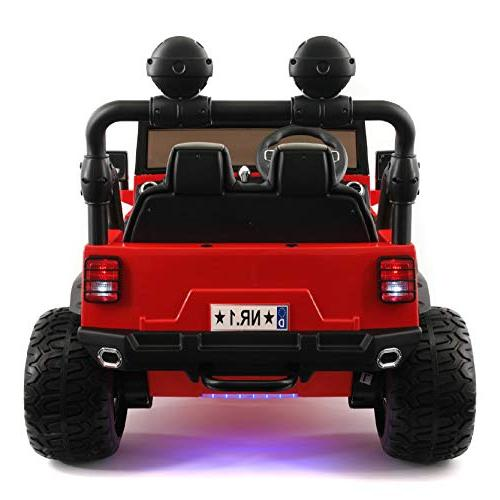 Best Car - Two Seater 2019 with Control for Large Capacity Power Battery Kid Car to with 3 Speeds, Seat, Tires