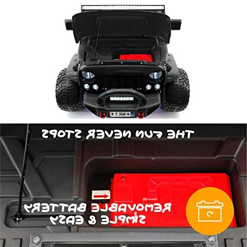 Best Electric Car - 2019 Truck with Remote Control Large to Speeds, Leather Seat, Tires - Red