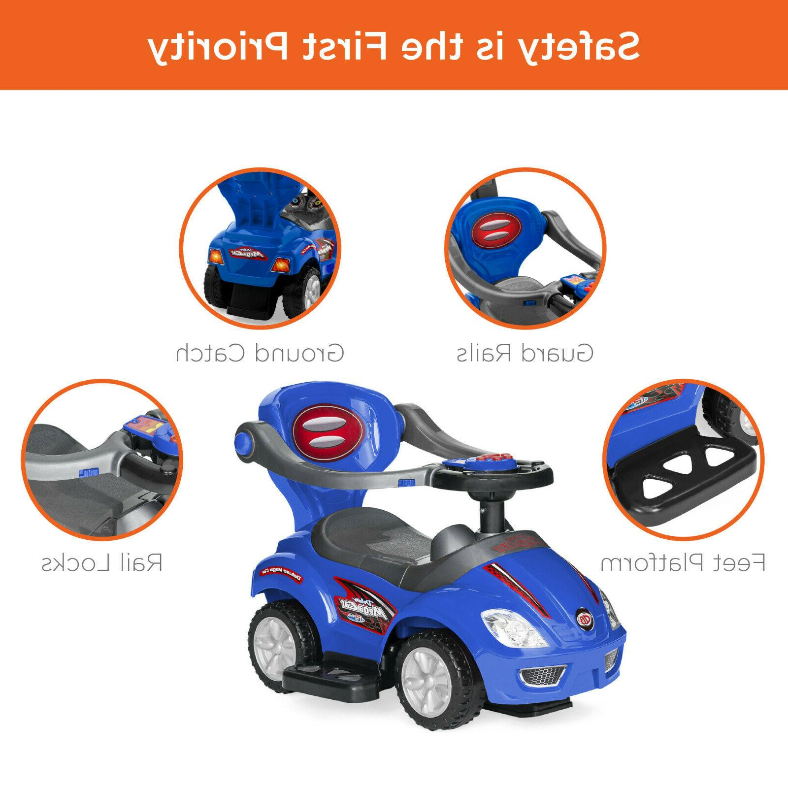 Best Choice 3-in-1 Kids Indoor and Pedal Car Ride