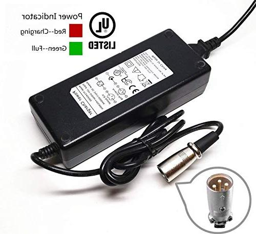 24V 4A Electric Pride Mobility Wheelchair Scooter Auto XLR Battery Charger US