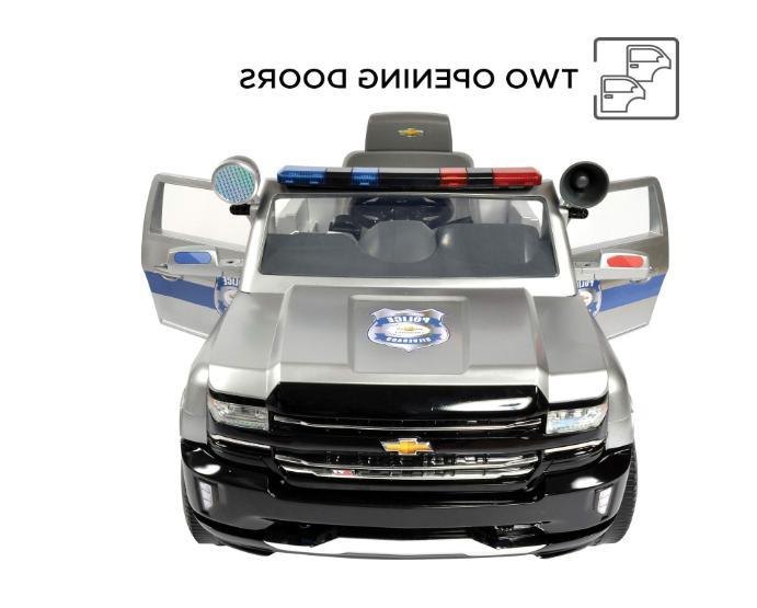 Rollplay Volt Silverado Police On Battery-Powered Kid's