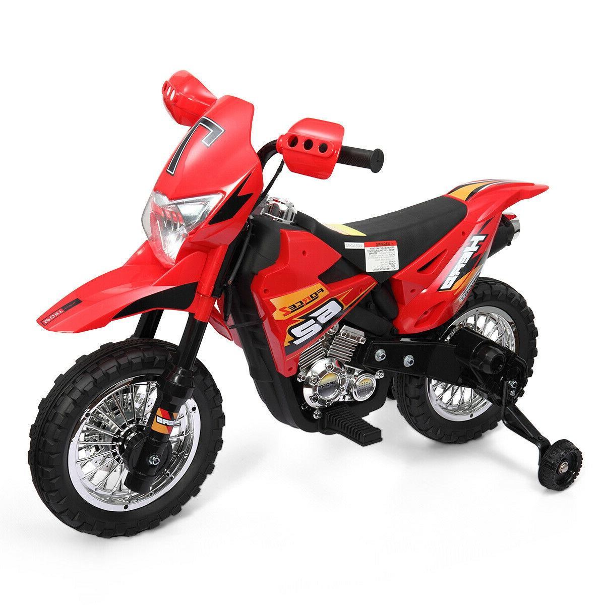 6V Kids On Motorcycle Battery Powered w/ Training New