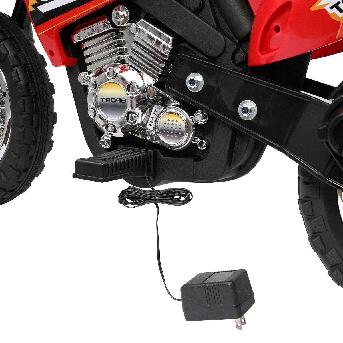 6V Kids On Motorcycle Battery w/ Training Toy New