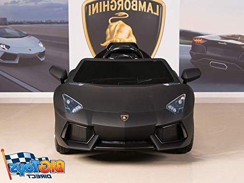 Aventador 12V Ride On Battery Car with Remote, Black