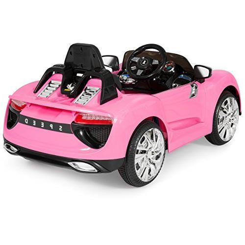 Best 12V Kids Powered Remote Control RC Car LED - Pink