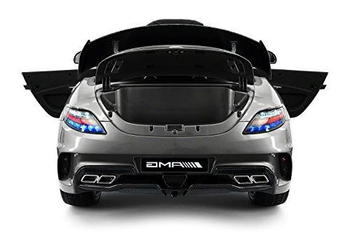 Carbon Mercedes Kids, Ride Car, Seat, LED Screen TV Dashboard, Stroller Seatbelt