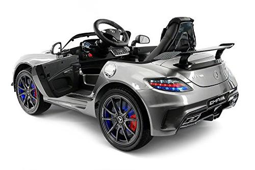 Carbon SLS Mercedes Car Ride On Car, Leather Seat, LED Remote, Screen Stroller Seatbelt