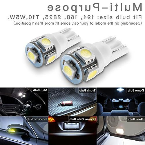 Marsauto Bulb T10 2825 Replacement Bulbs for Car Map Door Courtesy License Plate Lights