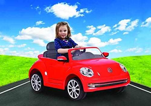 Rollplay 6 VW Beetle On Battery-Powered Ride On Car
