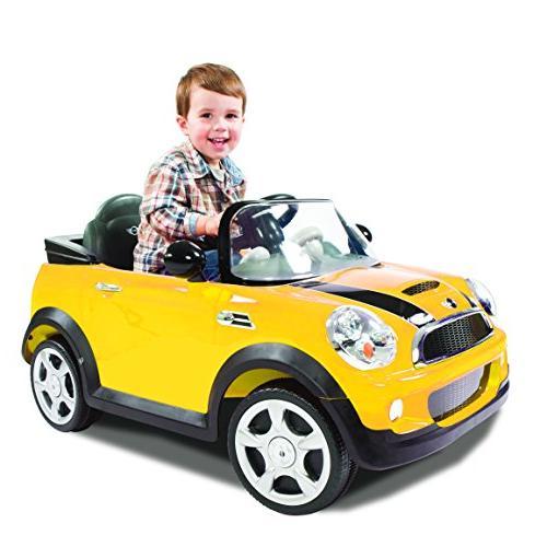 Rollplay Mini Cooper Ride Kid's Ride Car - Yellow