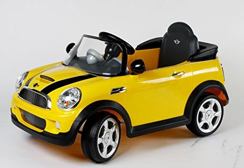 Rollplay 6V Cooper Ride Battery-Powered Kid's Ride On - Yellow