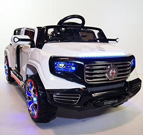Stunning 2 Seater Truck Limousine Battery Operated Ride Car with Lights, Remote