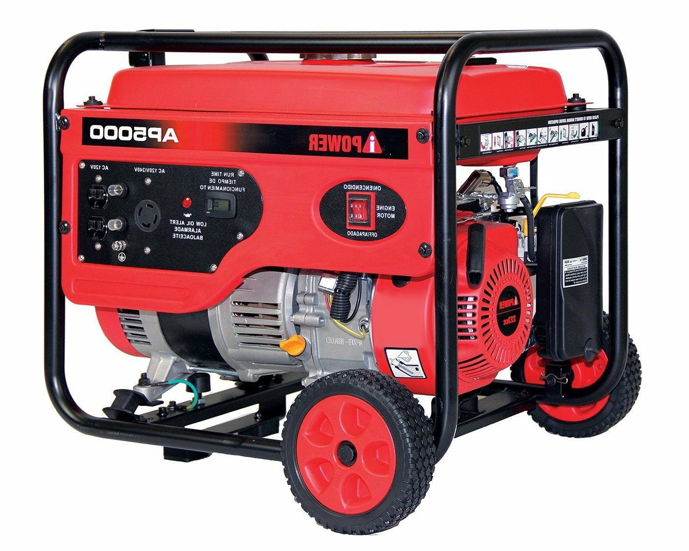 a ipower 5000w gasoline powered 7 5