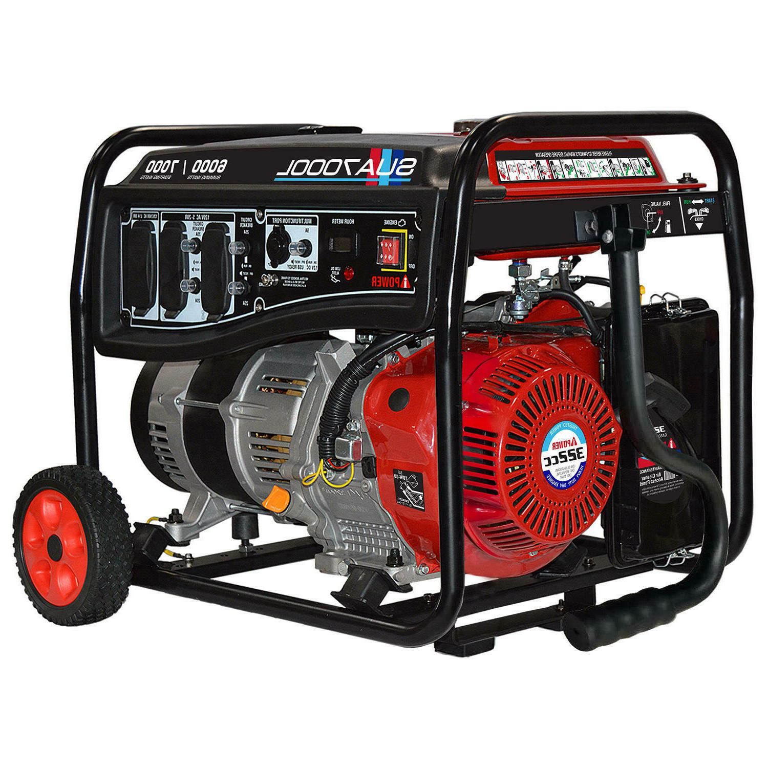 a ipower 6000 7000 watt gasoline portable