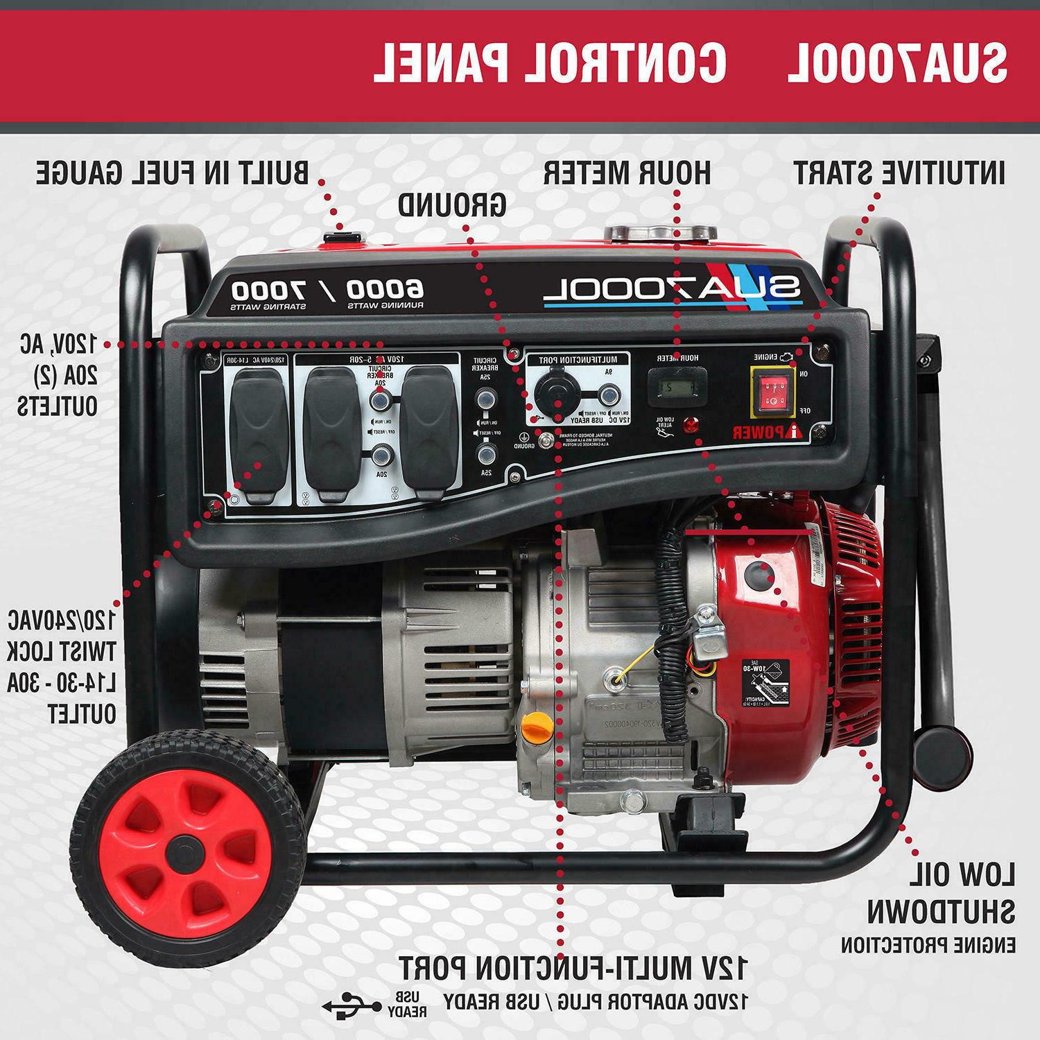 A-iPower Watt Gasoline Portable Generator Kit Free