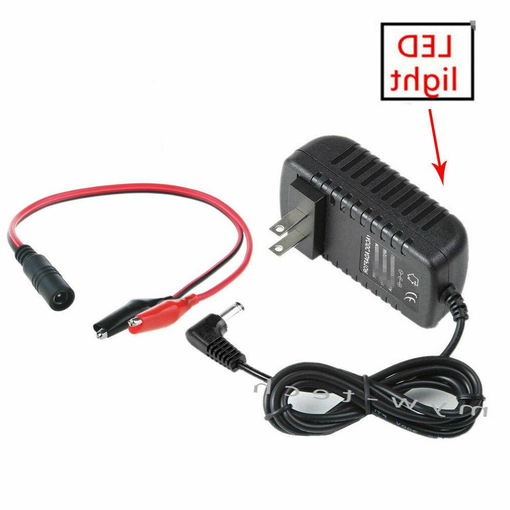 ac dc 12v clip charger adapter