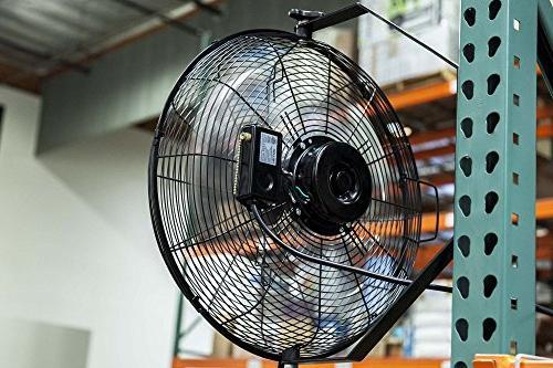NewAir High Velocity Fan 3 Settings, WindPro18W Black