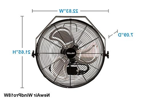 """NewAir Wall 18"""" High Velocity Industrial Settings, WindPro18W"""