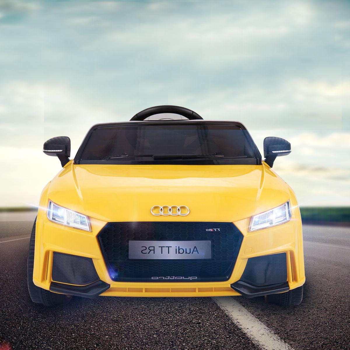 12V Audi TT Electric Kids Ride On Car MP3 LED Lights RC Remo