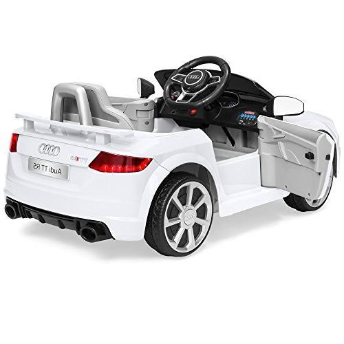 Best Products 6V Kids Licensed Audi Parent Control, Speeds, Suspension, AUX White