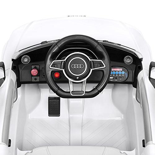 Best 6V Kids Licensed TT RS Ride-On Parent Control, Suspension, AUX Input White