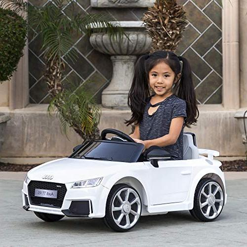 Best Kids Licensed Audi TT RS Car Suspension, AUX White