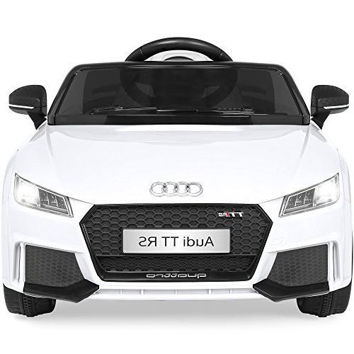 Best Kids Licensed TT RS Car Parent Suspension, AUX Input White