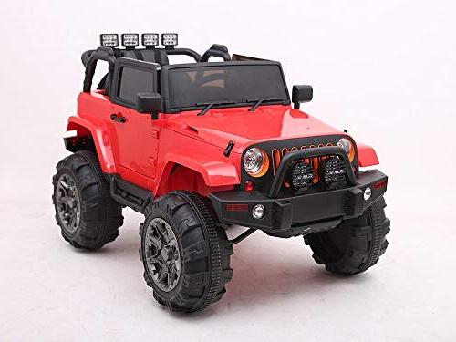 12V Ride On Truck with Doors and Plus Control - Red