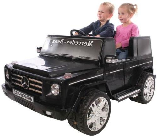Black G55 Ride On Kid Mercedes Benz Electric Powered Car