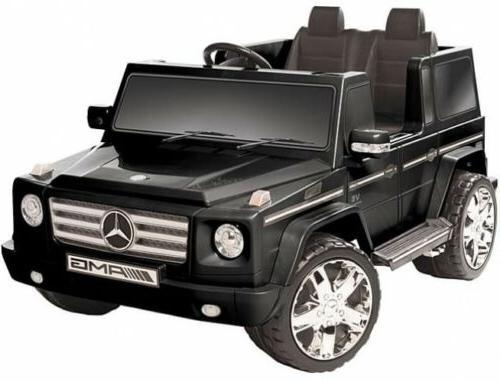 black g55 amg 12v ride on kid