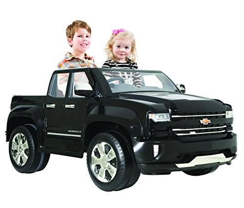 Rollplay Silverado Truck Toy, Battery-Powered Kid's Ride On Car Small