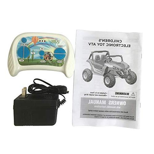 Dporticus 12V Kids Electric Off Road Ride Car Remote for Boys, White