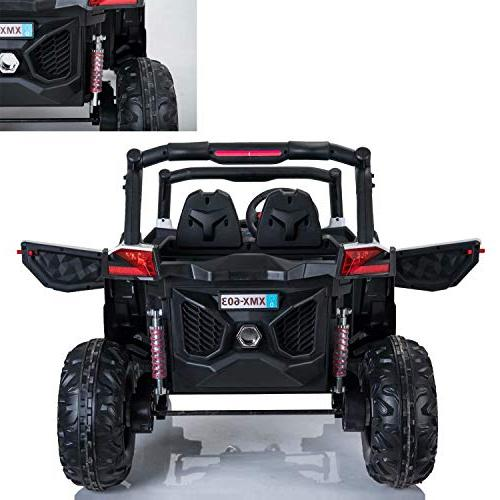 Dporticus Electric Off Ride Driving Car with Two Seater Remote White