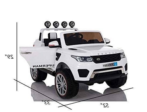 Dporticus 12V Kids Electric Two 3-Speed Variable Speed Driving Ride On 3-Speed Variable Ride On Car Remote Control Gifts, 12V