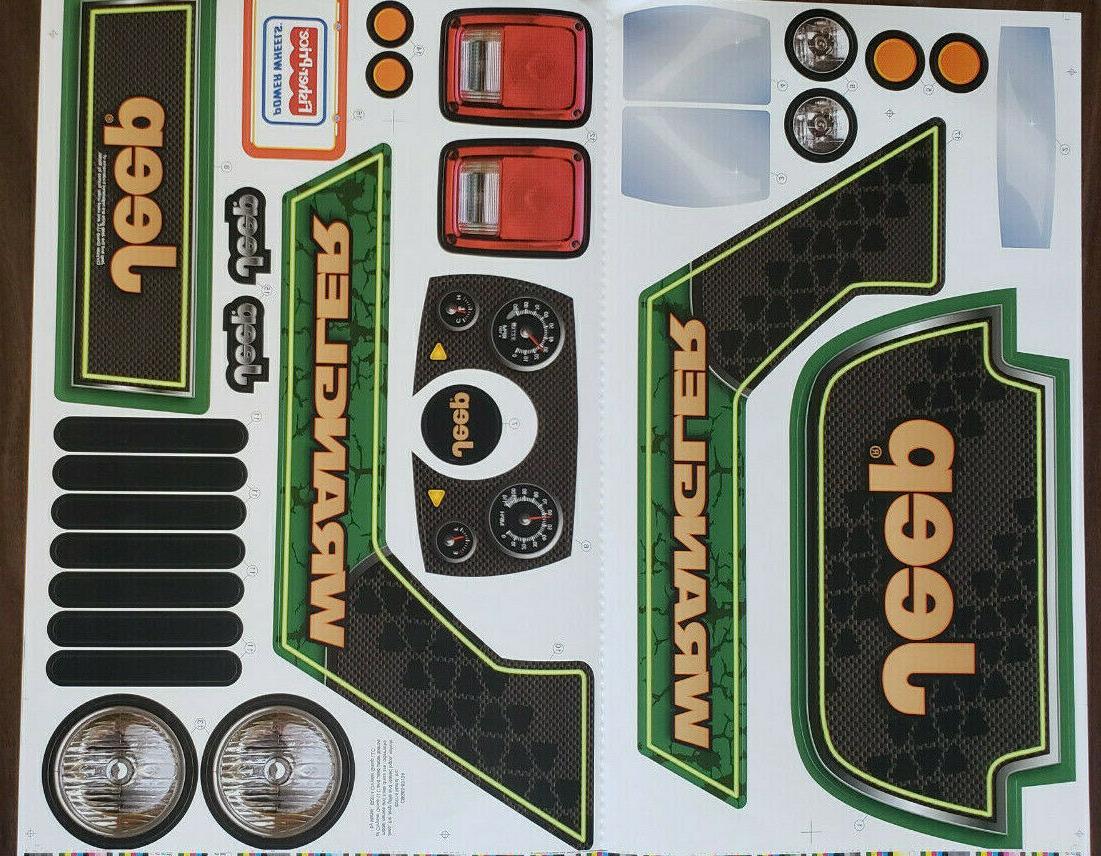 Power Wheels Sheet