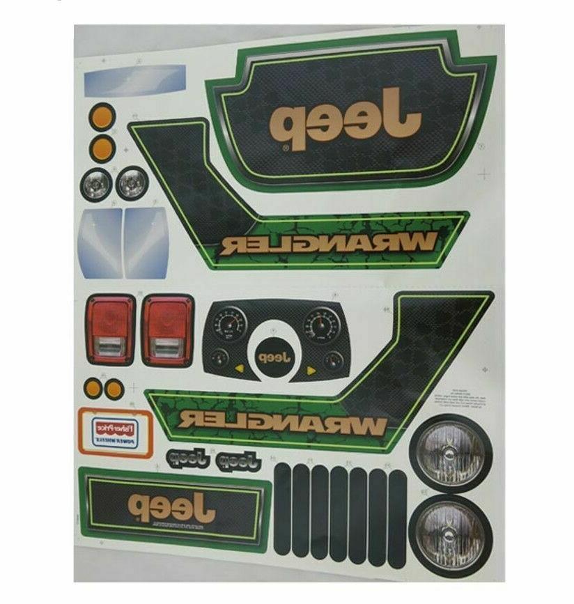 decal label sheet jeep wrangler cbg65 0310