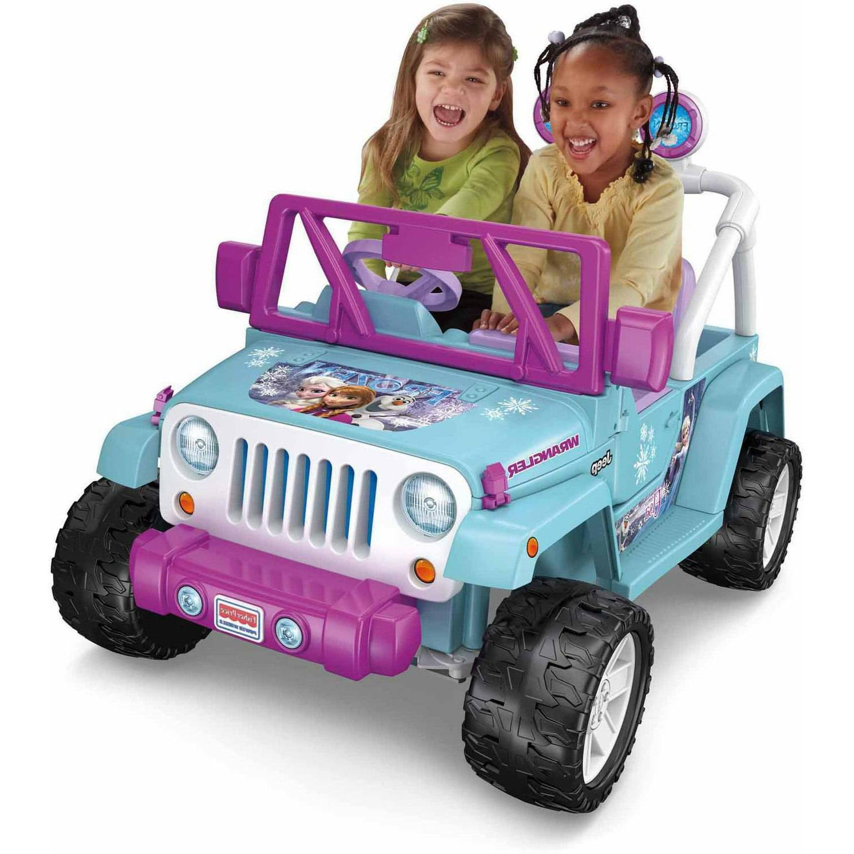 Disney Frozen Jeep Wrangler 12V Battery-Powered Ride-On 2 Se