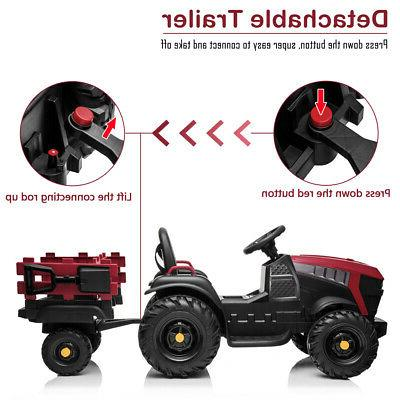 Electric On Tractor Car Toys Battery Music Trailer