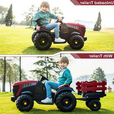 Electric 12V On Tractor Battery Wheels Trailer