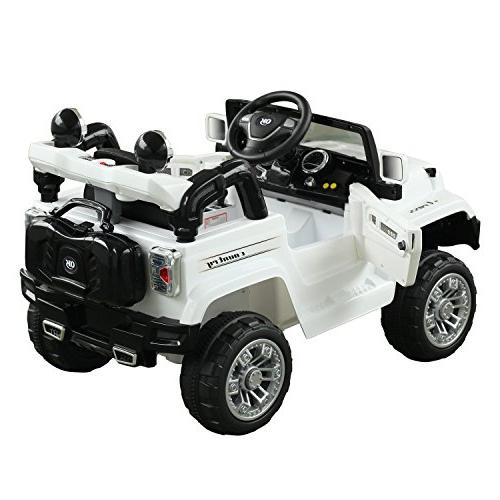 Aosom 12V Kids Jeep Ride Car with Remote Control White