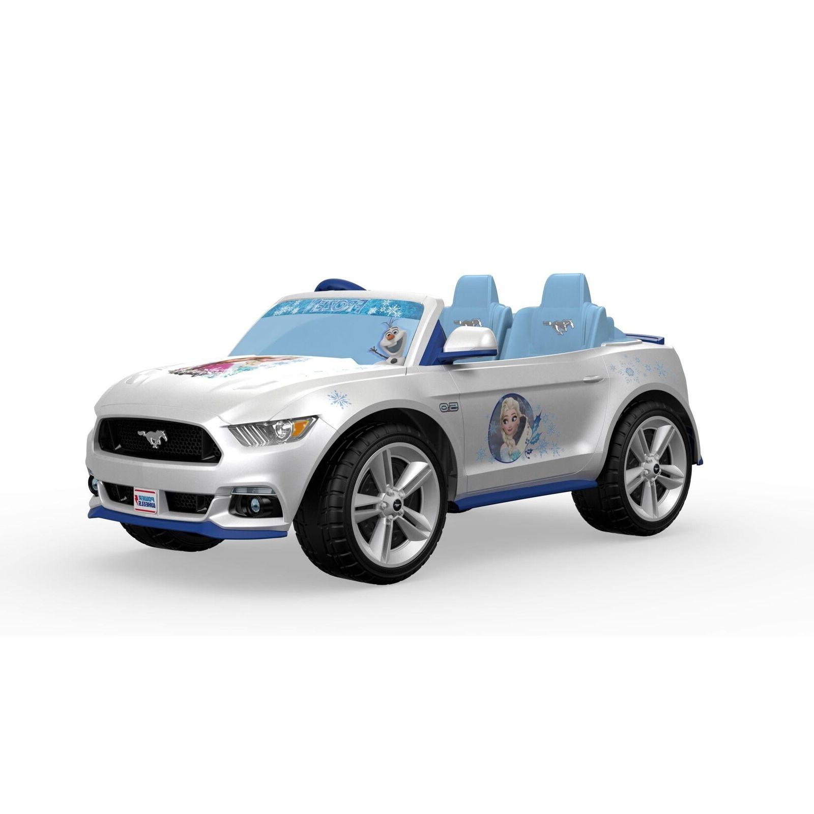 Electric Cars For Kids To Frozen Mustang Motorized Vehicle