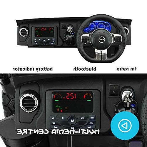 Best Car - 2019 Control Large Battery Licensed Kid to Speeds, Leather Rubber Tires -