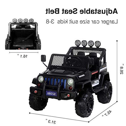 Uenjoy Electric On Cars 12V Suspension, Remote Control, Music& Story Playing, Colorful Lights, Sunshine Model,