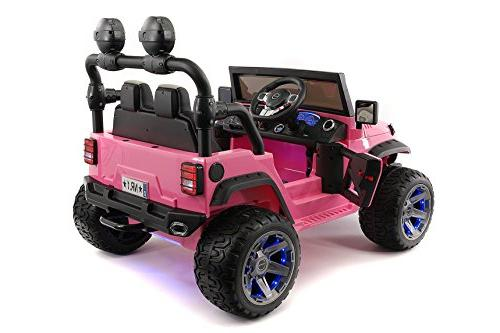 Moderno Explorer Ride-On Car R/C Parental Remote EVA LED + Leather MP3 Music FM LED