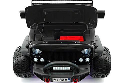 Moderno Explorer 2 Seater Power Children Ride-On Truck EVA LED Wheels + Leather Seat MP3 Music Player FM LED Lights