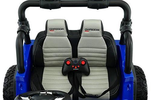 12 Volt Truck Battery 2 Seater Children On Kids Seat Music Player Radio Remote