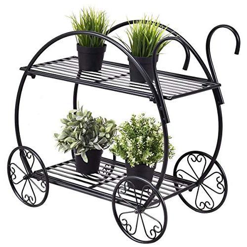 garden cart stand flower pot