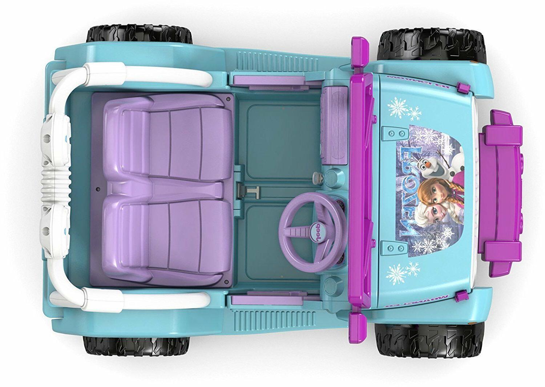 Power Girls Jeep Kids Motorized Frozen Car Ride Disney
